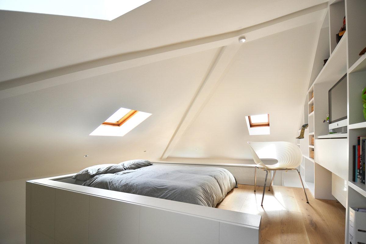 Dom potkrovlje spava a soba - Bed kamer mezzanine ...