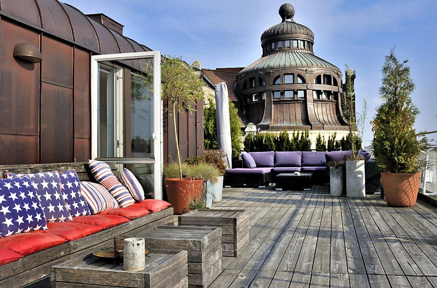 Prekrasna terasa na vrhu zgrade  MojStan.net