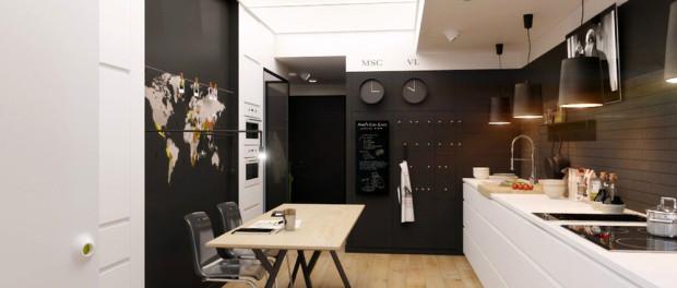 Crno-bijeli stan dizajnerice Natalie Akimove  MojStan.net