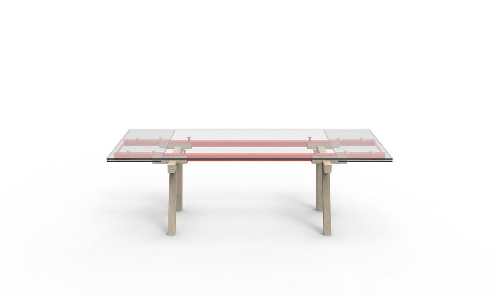 Moderni stakleni stol, Tracks  MojStan.net