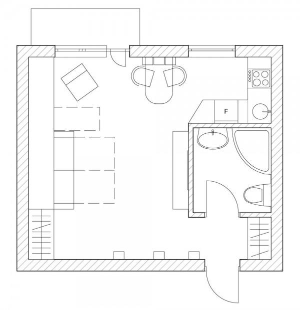 Odličan primjer uređenja jednosobnog stana  MojStan.net