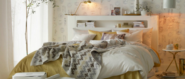 Bijelo zlatna spavaća soba  MojStan.net