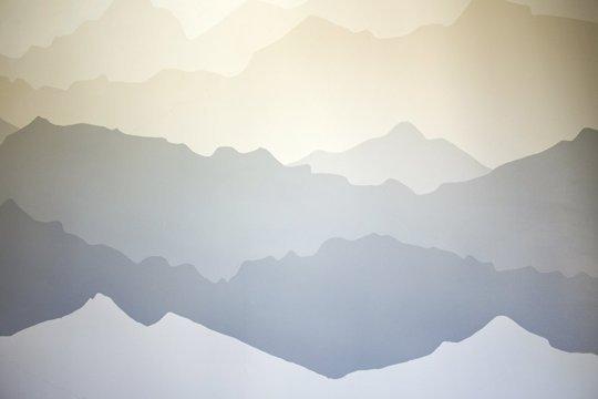 Preuređenje spavaće sobe – planina na zidu  MojStan.net