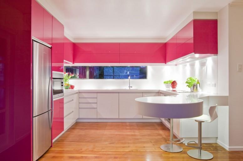Kuhinja roze boje  MojStan.net
