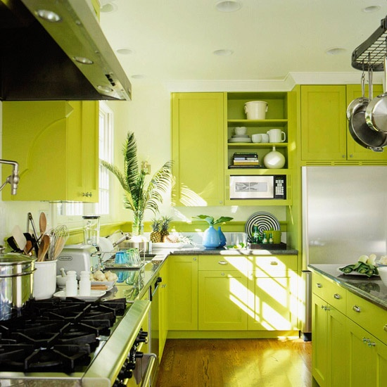 20 Modern Kitchens Decorated In Yellow And Green Colors: Kuhinja Boje Limete