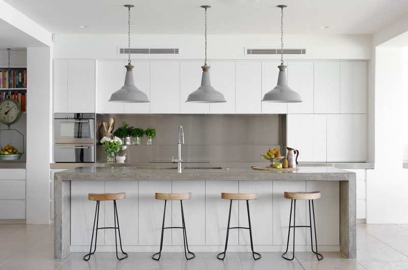 moderne bijele kuhinje. Black Bedroom Furniture Sets. Home Design Ideas