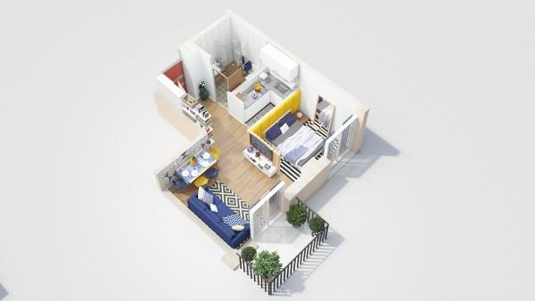 Ideje za uređenje stana sa jednom spavaćom sobom  MojStan.net