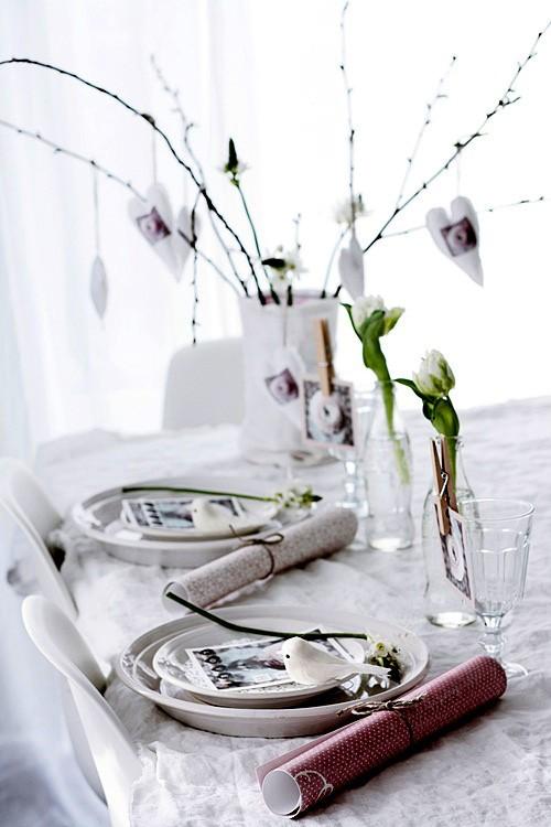 Uređenje stola za Valentinovo  MojStan.net