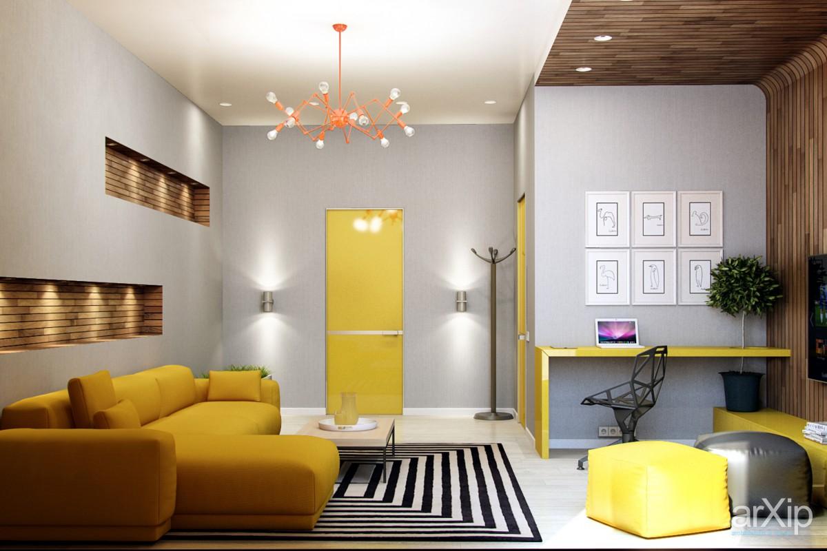 Malo žute boje u dnevnom boravku  MojStan.net