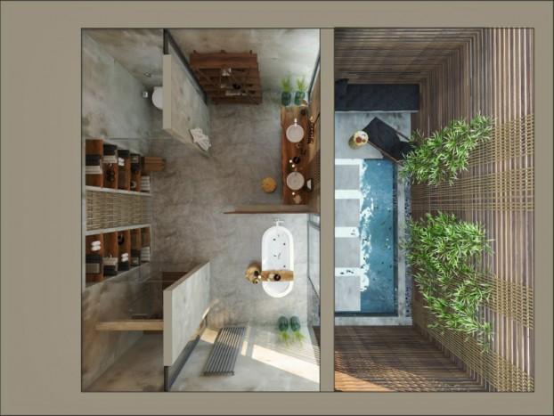 Kupaonica inspirirana prirodom  MojStan.net