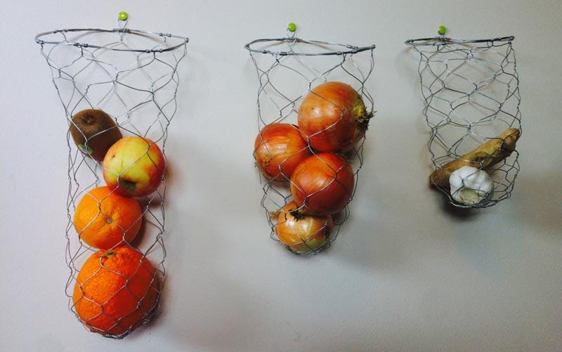 Viseće žićane vreće i košarice za povrće i voće  MojStan.net