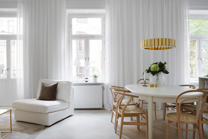 Bijeli skandinavski stan sa zlatnim detaljima  MojStan.net