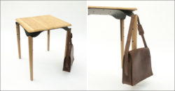 Stol sa vješalicom za ugostiteljske objekte