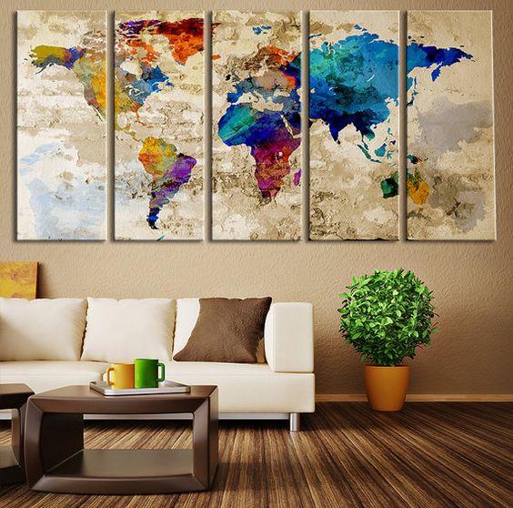 Karta svijeta kao zidna dekoracija  MojStan.net