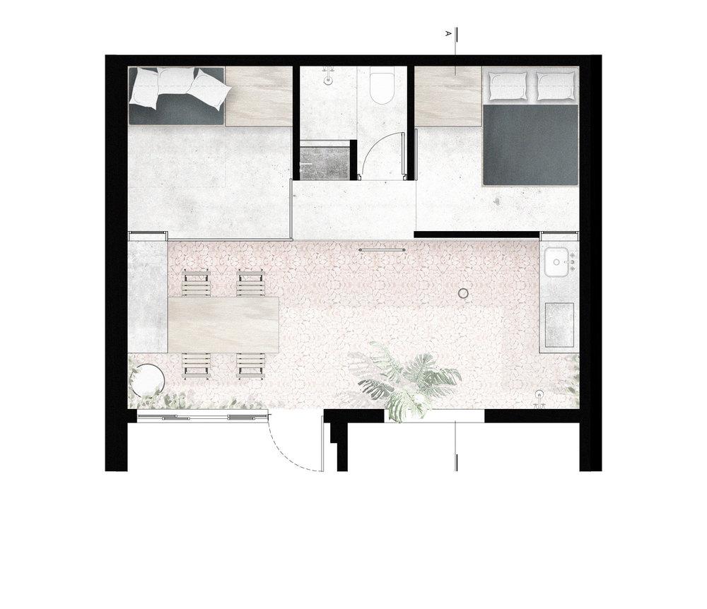 Terasa na krovu dograđenog djela kuće