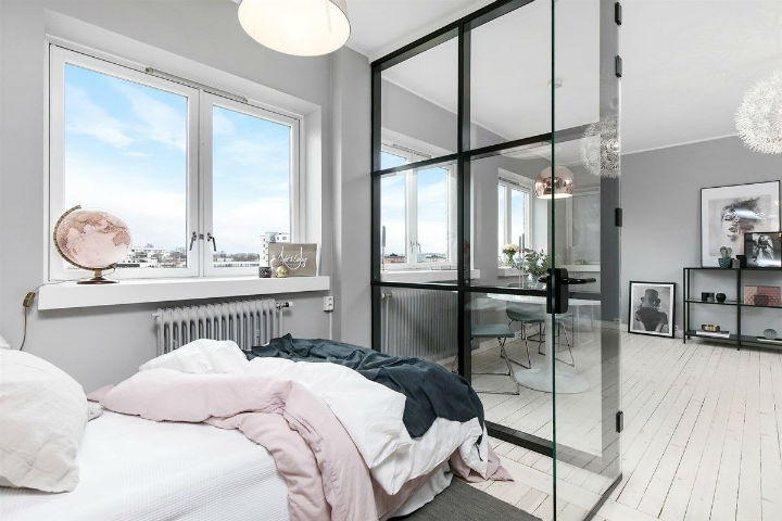 Otvoreno uređenje malog skandinavskog stana