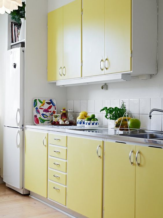 Kuhinja žute boje - nekoliko primjera za inspiraciju