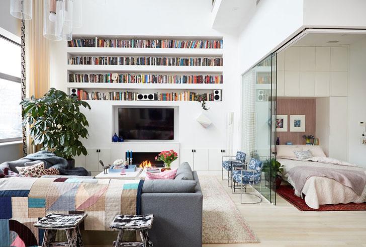 Dvije etaže stana u New Yorku uređene osebujnim stilom