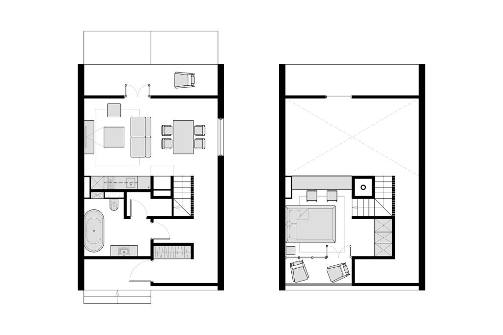Jednostavna i moderna kuća za dvoje