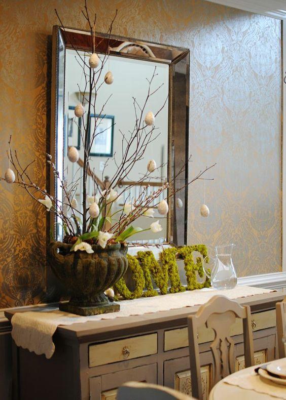 15 suptilnih uskršnjih dekoracija za komode i konzolne stoliće
