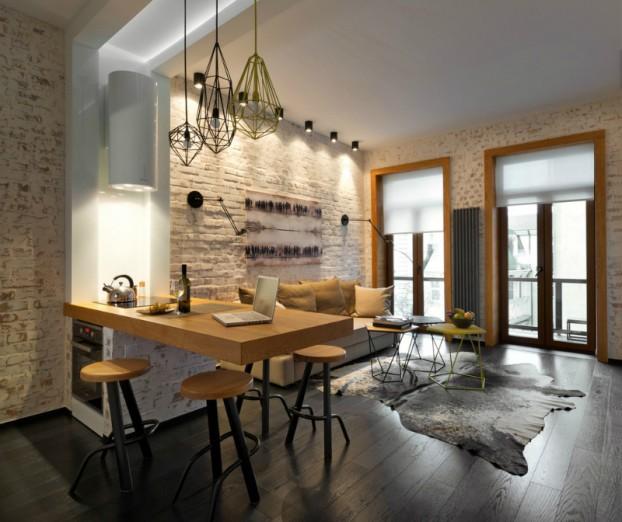 Small Square Kitchen Interior Design: Simpatičan Stan Od 40 Kvadrata