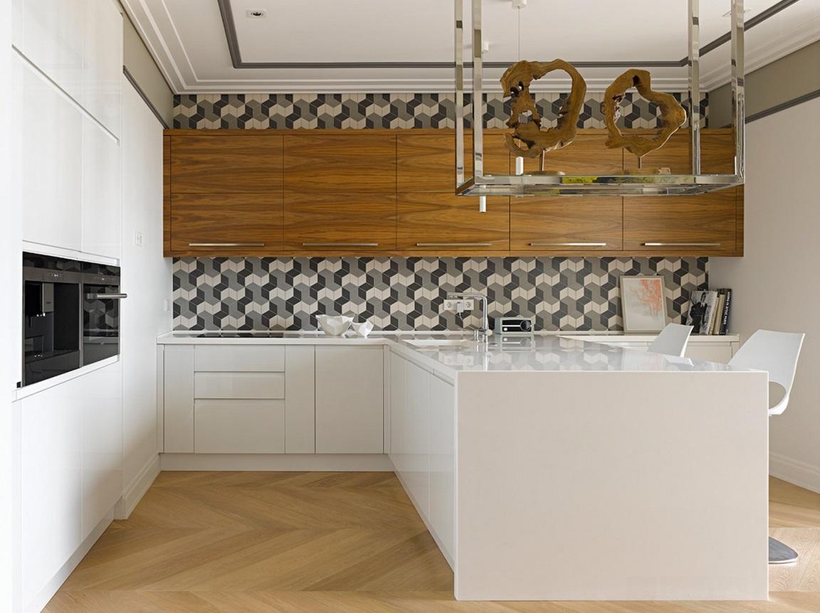 Zidne pločice geometrijskog dizajna za kuhinju