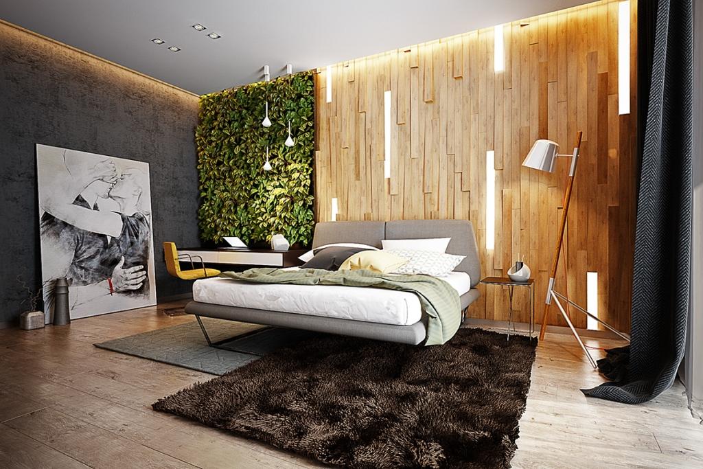 Dva drvena uzglavlja sa ugrađenom rasvjetom