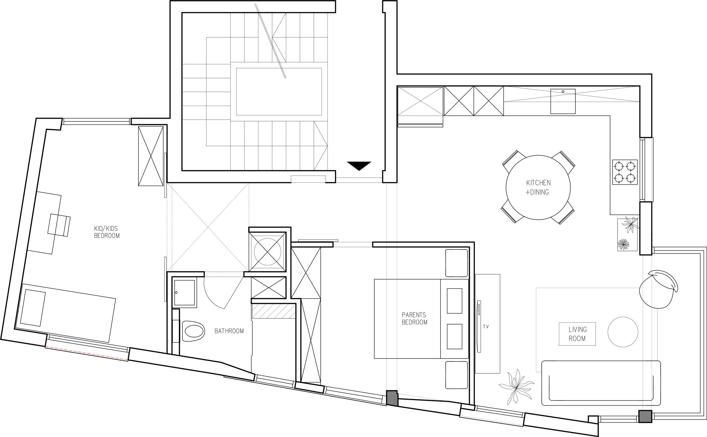 Preuređeni stan za rastuću obitelj
