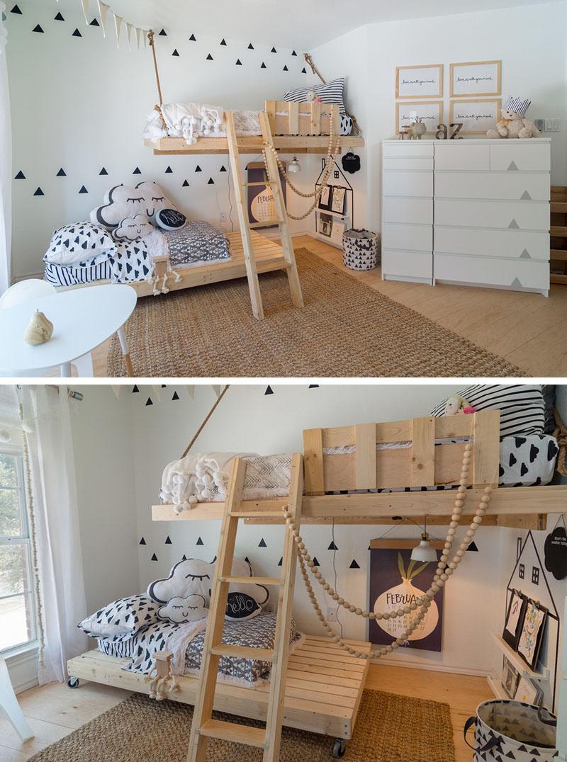 Dječja spavaća soba sa trokutićima