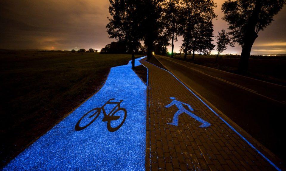 Svjetleća biciklistička staza u Poljskoj