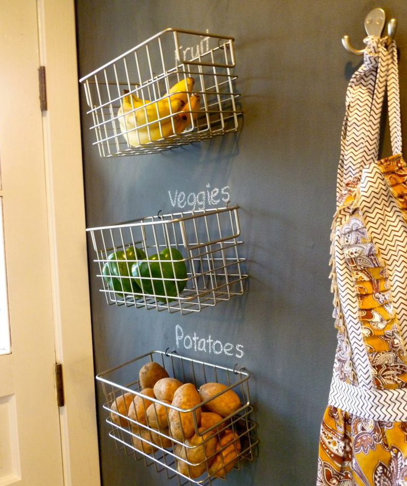 Viseće žićane vreće i košarice za povrće i voće