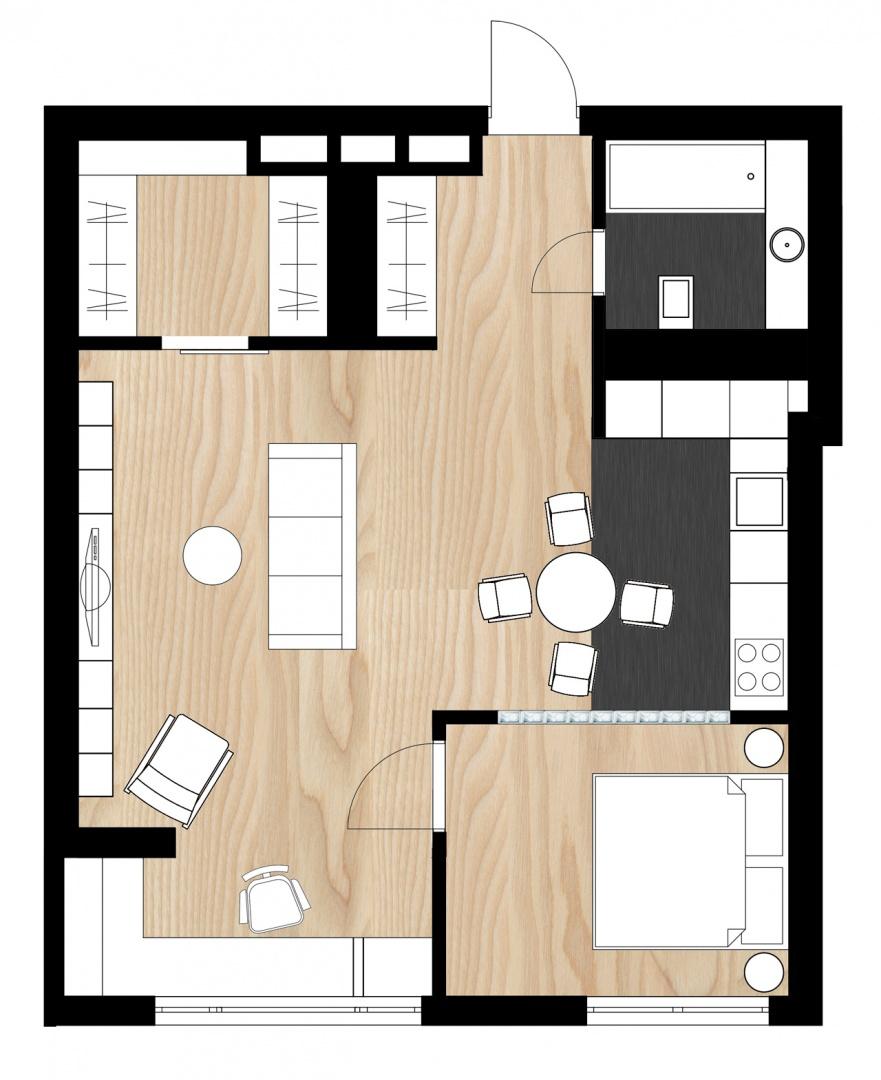 Dobro organizirani stan površine 62 kvadrata