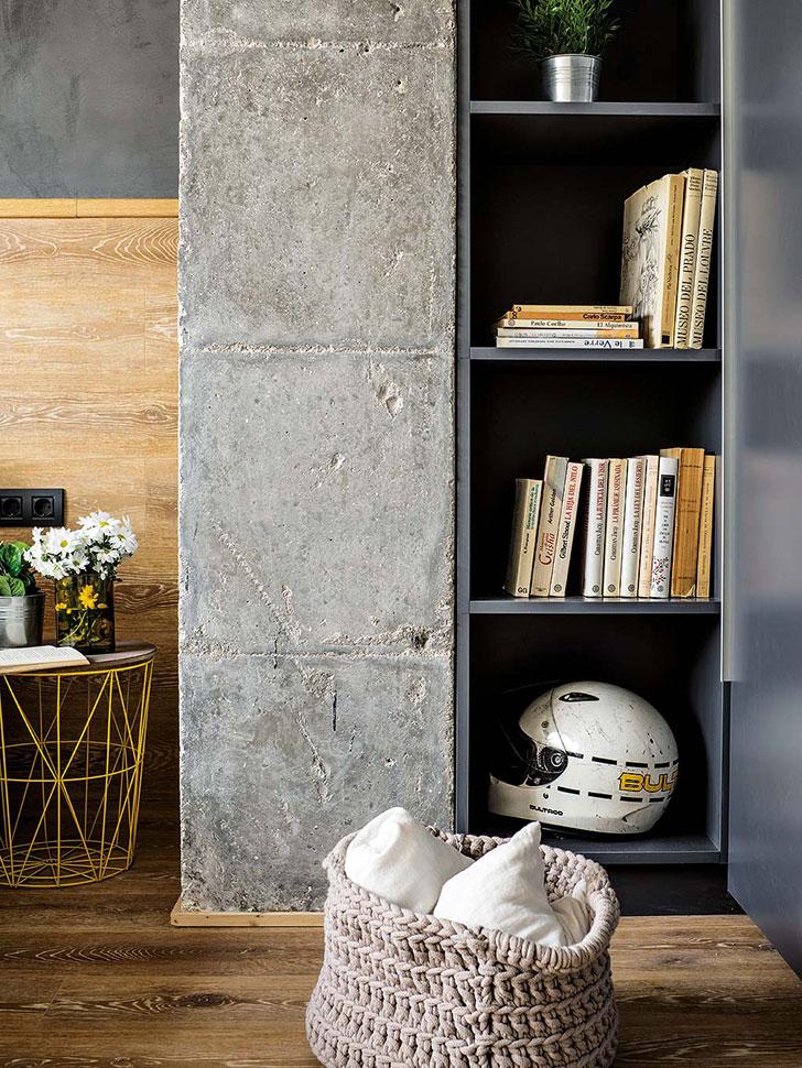Ugodan stan sa dodirom industrijskog dizajna