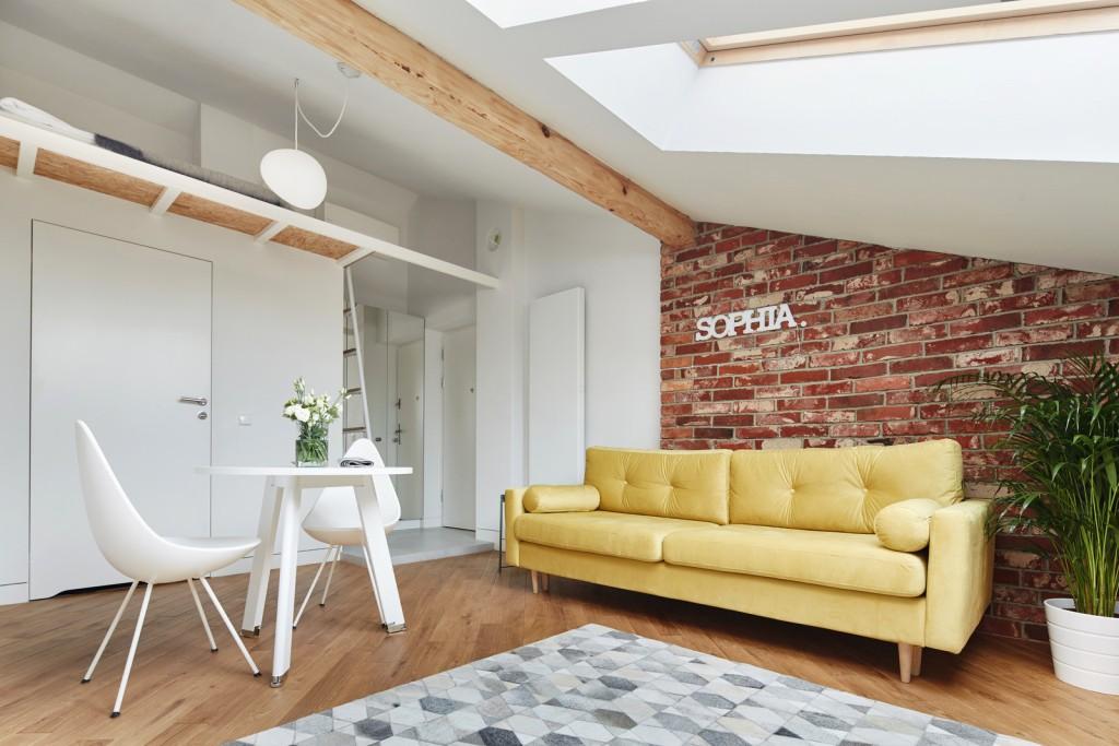 Simpatičan stan u potkrovlju površine 19 m²
