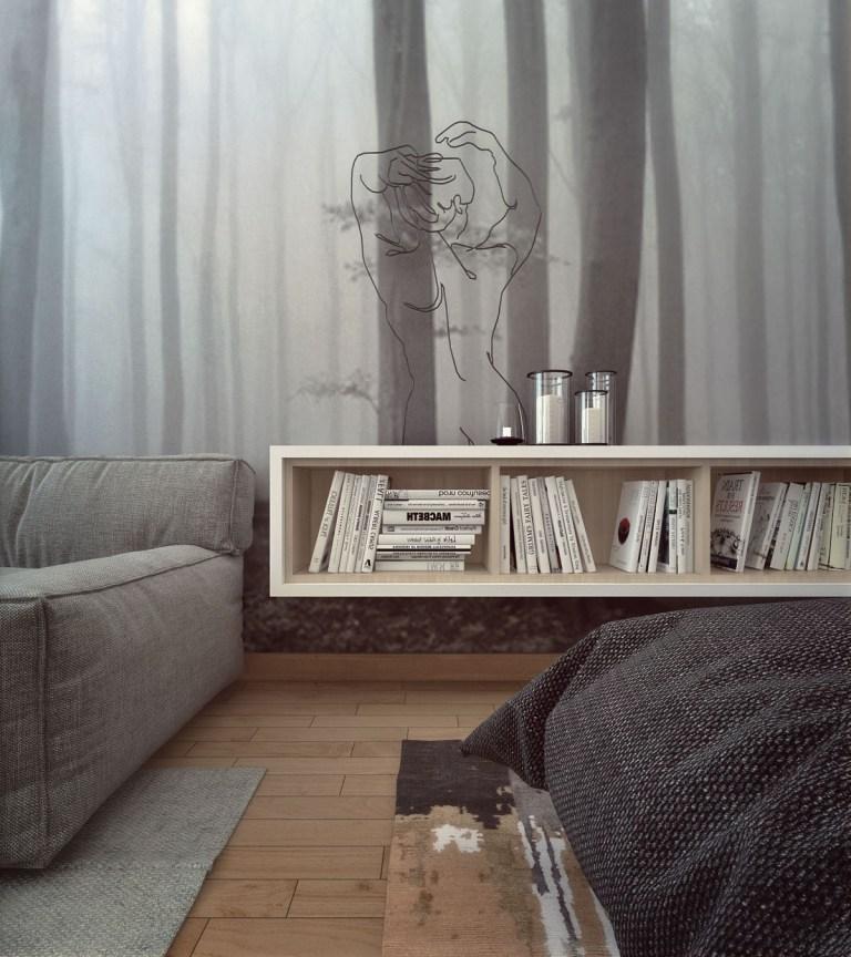 Mali stan sa šumom u pozadini