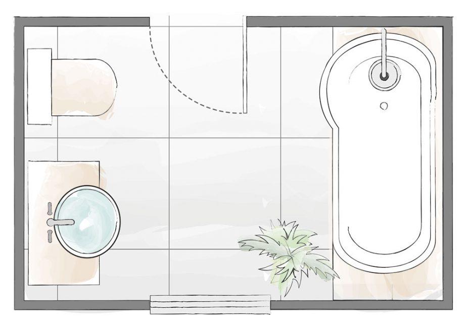 4 tlocrtna rješenja za uređenje male kupaonice