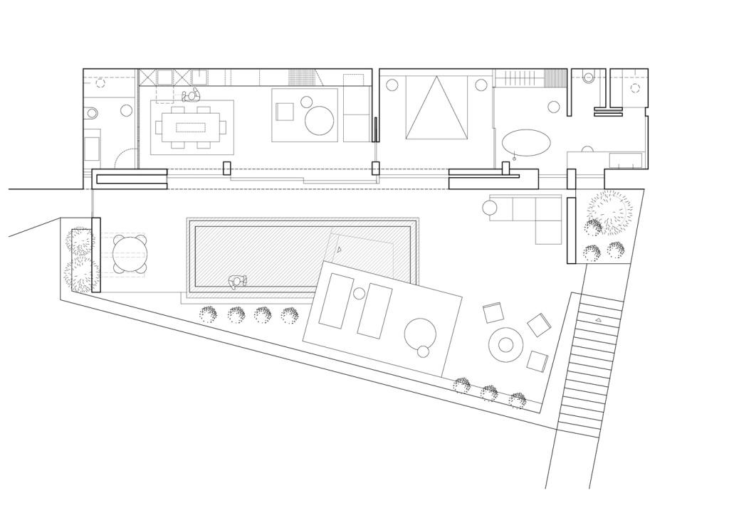 Kuća na stjenovitoj obali by Kapsimalis Architects