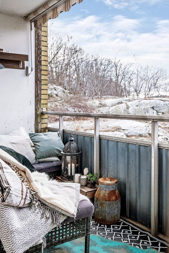 Balkoni i terase uređeni za hladnije dane