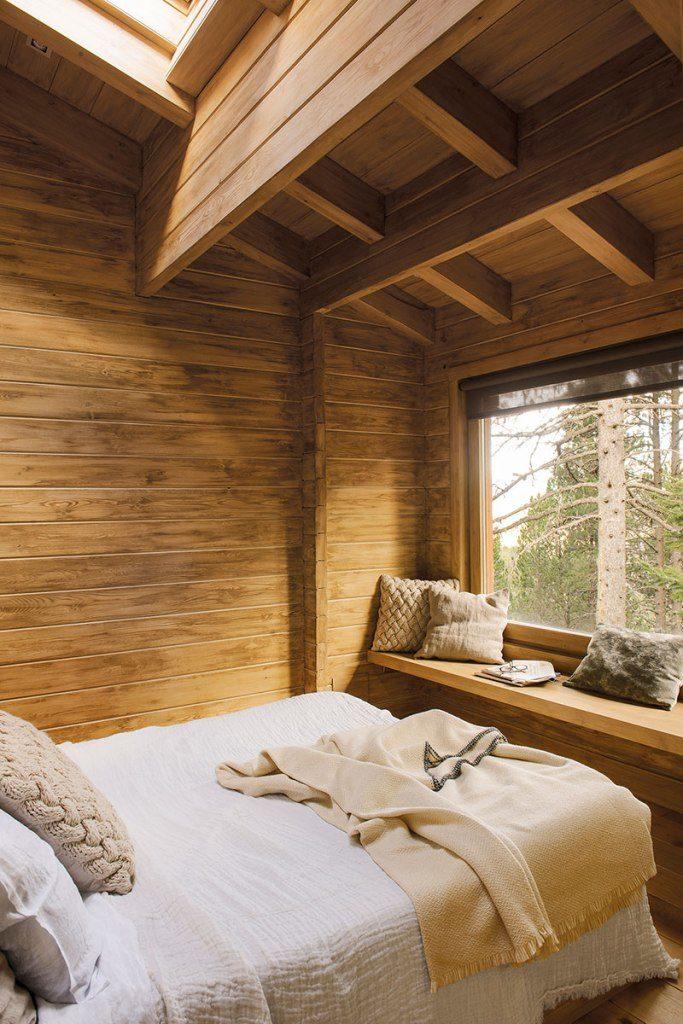 Drvena koliba kao stvorena za hladne zimske dane