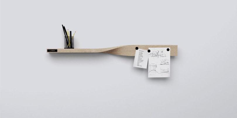 Polica i magnetna ploča u jednom