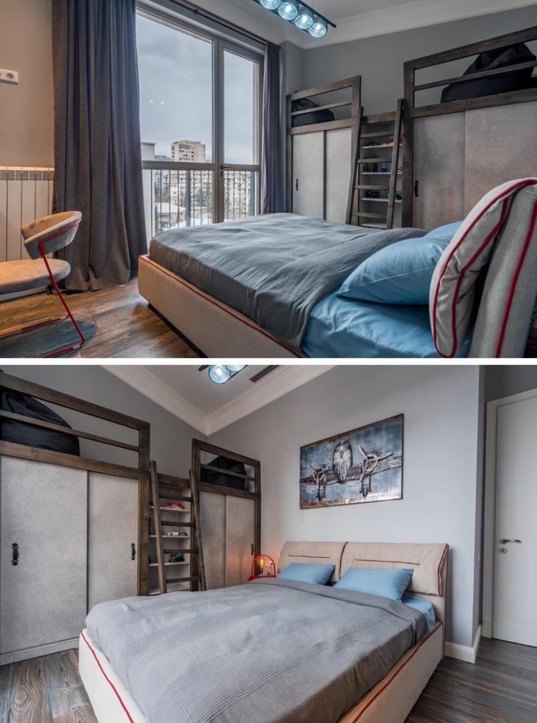 Ideja za spavaću sobu - prostor za sjedenje na ormaru