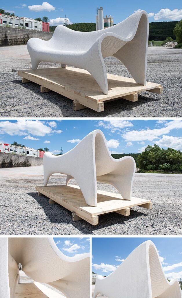 vrtni namještaj izrađen 3d printanjem betona