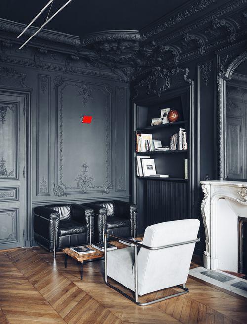 zidovi crne boje za atraktivniji izgled prostora