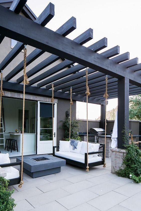 Nekoliko ideja za uređenje terase sa pergolom